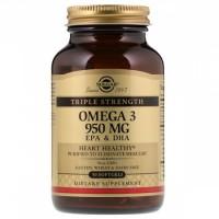 Омега - 3 (Omega-3, EPA DHA), Solgar, 950 мг, 50 кап